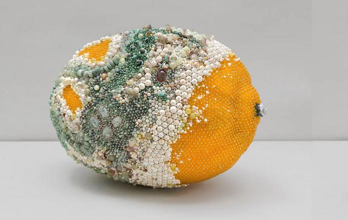oeuvre d'art citron pourri