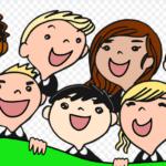 Enfants à l'école du bonheur