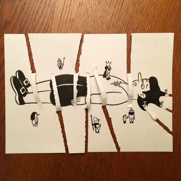 créatif avec du papier