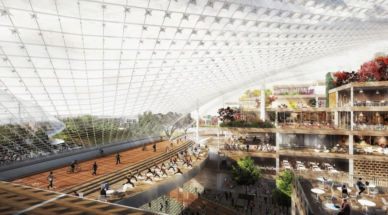 Le futur Googleplex, la ville dans la ville
