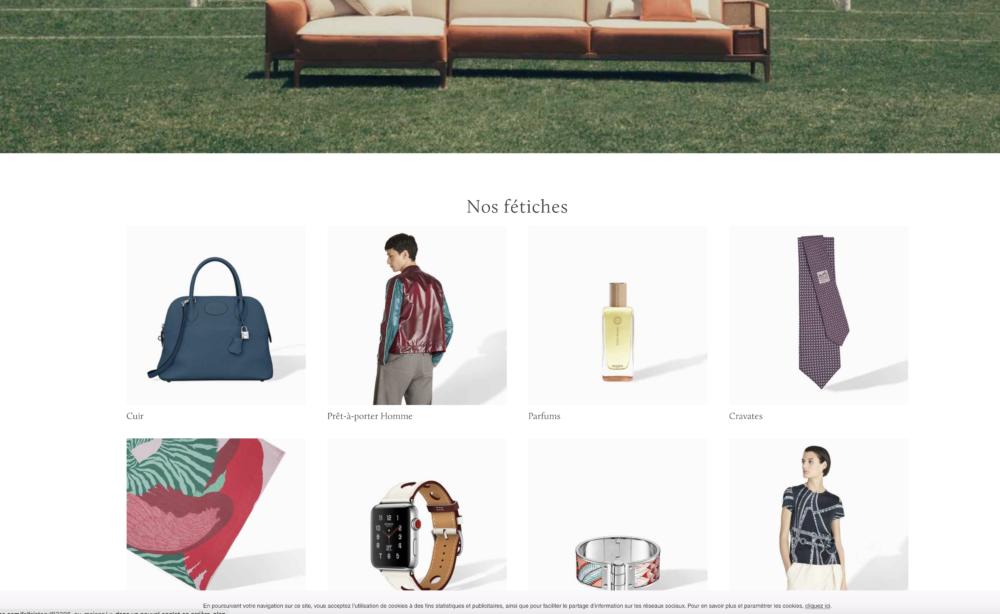 Le nouveau site Hermès